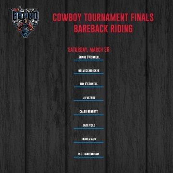 cowboy tournament finals bareback riding