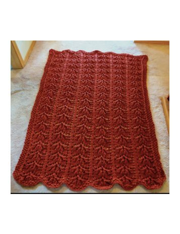 Pictures of Autumn Leaves Afghan completed