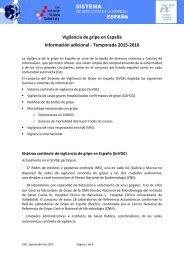 Vigilancia de gripe en España Información adicional - Temporada 2015-2016