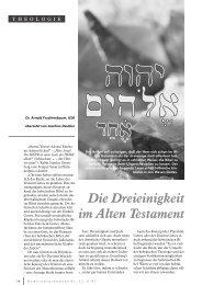 Die Dreieinigkeit im Alten Testament