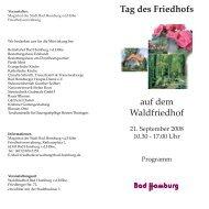 Tag des Friedhofs auf dem - Bauer Blumen in Bad Homburg vd Höhe