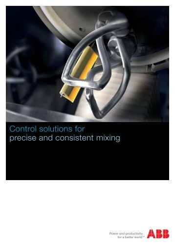Control solutions for precise and consistent mixing