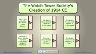 The Watch Tower Society's Creation of 1914 CE