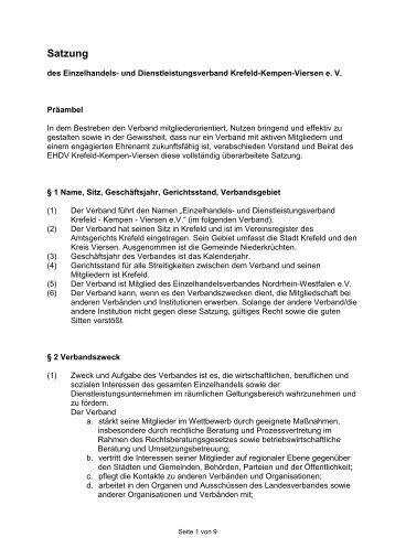 Satzung neu 2012 - Krefeld - Kempen - Viersen eV