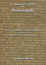 A Comparative Edition of the Dhammapada