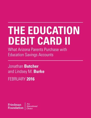 THE EDUCATION DEBIT CARD II