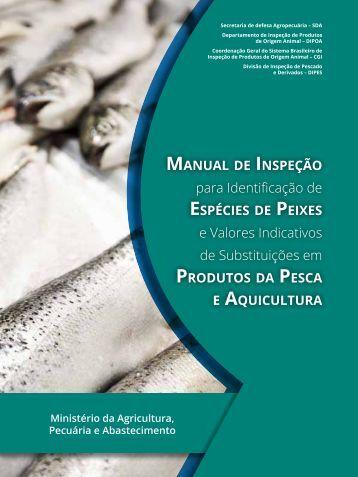 Manual Inspeção Espécies Peixes Produtos Pesca Aquicultura