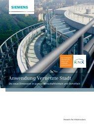 Anwendung Vernetzte Stadt - Siemens