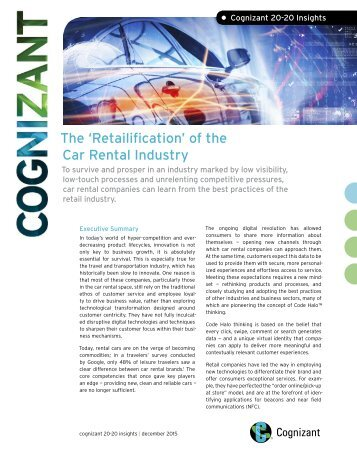 • The 'Retailification' of the Car Rental Industry