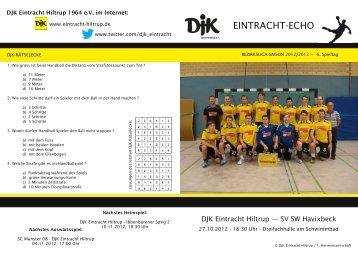 findet Ihr die Ausgabe vom 6. Spieltag - DJK Eintracht Hiltrup