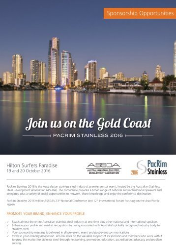 Join us on the Gold Coast