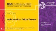 Agile Security – Field of Dreams