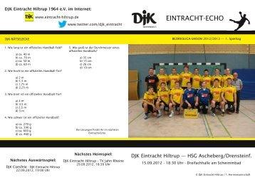 Ausgabe 1: 2. Spieltag, Saison 2012/2013 - DJK Eintracht Hiltrup