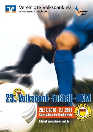 Fußball- HKM eG - zur 24. Volksbank-Fußball-HKM