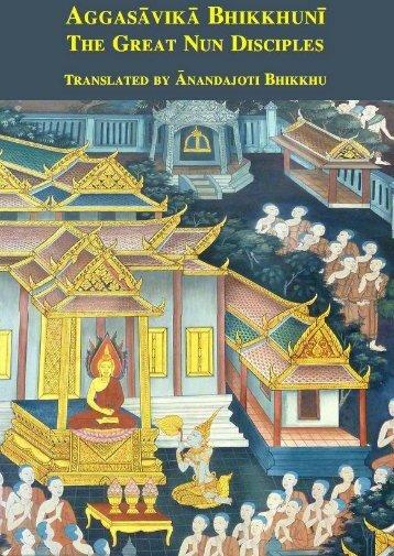 Aggasāvikā Bhikkhunī, The Great Nun Disciples