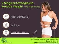 5 Magical Strategies to Reduce Weight