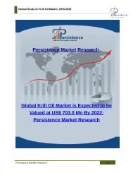 Global Study on Krill Oil Market, 2015-2022