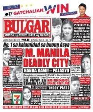 March 28, 2016 BULGAR: BOSES NG PINOY, MATA NG BAYAN