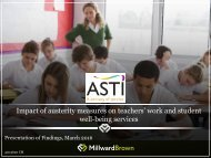 Impact of austerity measures on teachers' work and student well-being services