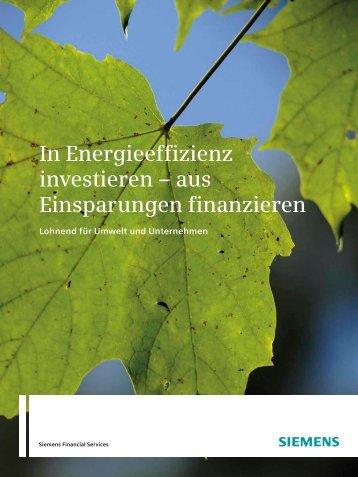 In Energieeffizienz investieren - Financial Services - Siemens