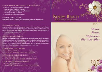 Renew, Revive, Rejuvenate, The New You! - Kenmare Bay Hotel ...