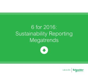 6 for 2016 Sustainability Reporting Megatrends
