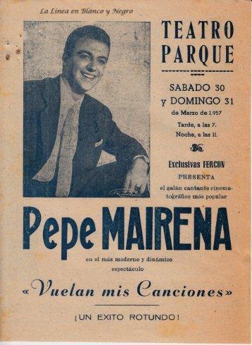 1957-03-30 Pepe Marchena - Vuelan mis canciones