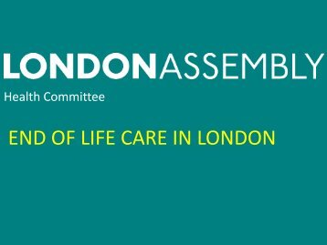END OF LIFE CARE IN LONDON