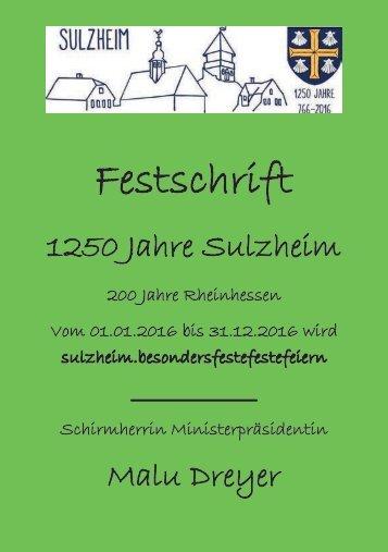 Festschrift 1250 Jahre Sulzheim 2016