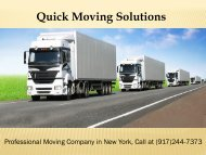 Professional Moving Company in New York