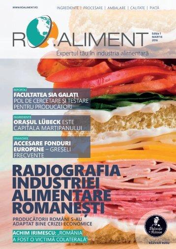 Revista RO.aliment - expertul tau in industria alimentara