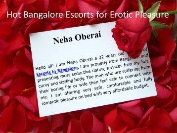 Hot Bangalore Escorts for Erotic Pleasure