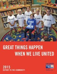 2015 United Way Annual Report