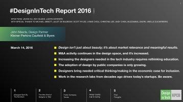 #DesignInTech Report 2016