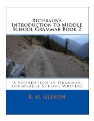 Richbaub's Introduction to Middle School Grammar Book 2