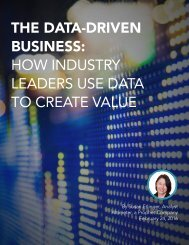 THE DATA-DRIVEN BUSINESS HOW INDUSTRY LEADERS USE DATA TO CREATE VALUE