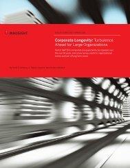 Corporate Longevity Turbulence Ahead for Large Organizations