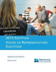 2015 EGYPTIAN HOUSE REPRESENTATIVES ELECTIONS