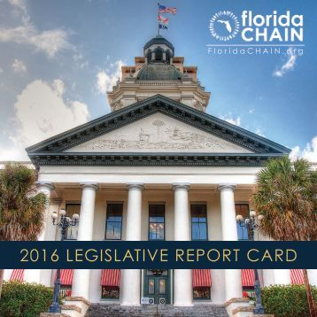 2016 LEGISLATIVE REPORT CARD