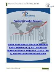 Global Study on Bone Marrow Transplant Market, 2015-2021