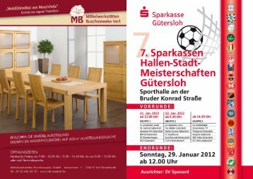 7. Sparkassen Hallenstadtmeisterschaften Gütersloh - SV Spexard