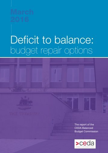 Deficit to balance