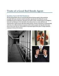 Traits of a Good Bail Bonds Agent