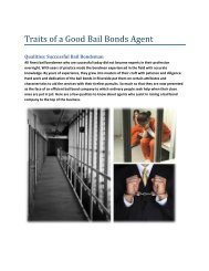 Traits of a Good Bail Bonds Agent