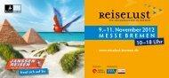 11. November 2012 MESSE BREMEN 10–18 Uhr - Janssen-Reisen ...