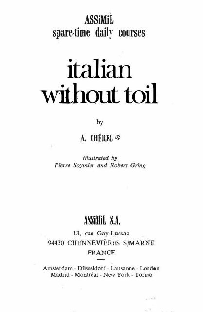Assimil Italian Without Toil