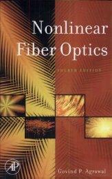 Nonlinear Fiber Optics  - 4 ed. Agrawal