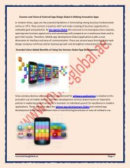 Essence and Value of Android App Design Dubai in Making Innovative Apps