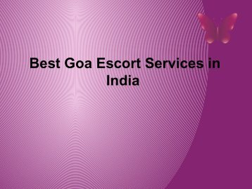 best goa escort services in india