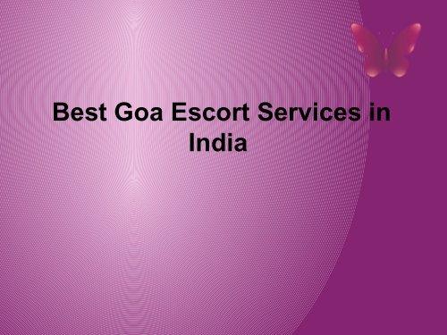 best goa escort services in india